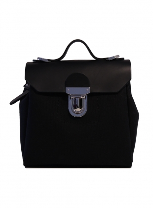 Hillmini Messenger Backpack in Black Swan by Jam Love London