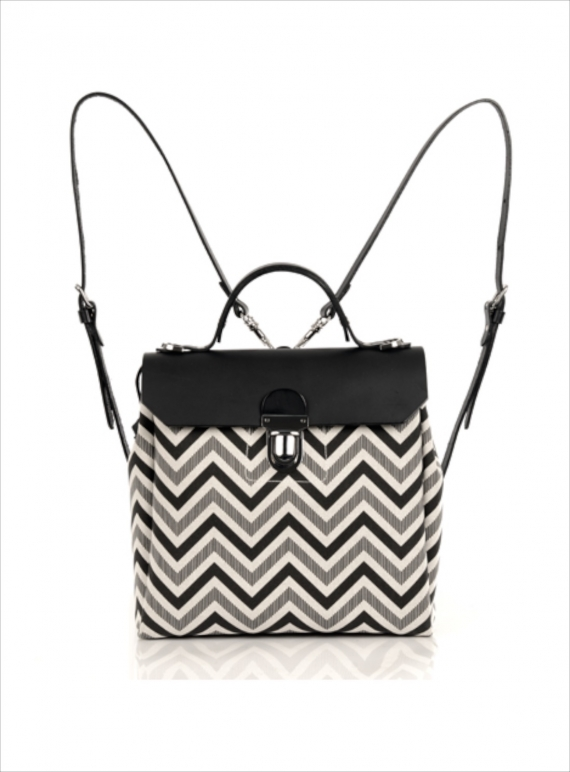 Young British Designers: Hillside Urban Backpack in Black/Chevron - last one by Jam Love London