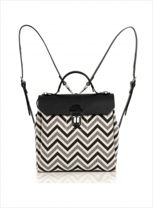 Hillside Urban Backpack in Black/Chevron - last one by Jam Love London