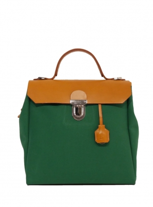 Young British Designers: Hillview Zipper Backpack in Avocado by Jam Love London