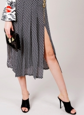 GEORGIA Silk Midi Skirt with Stars - Sold out