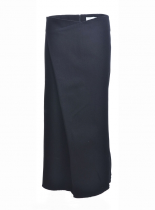 Young British Designers: Black Denim Asymmetric Skirt - last one (14) by Charlie May