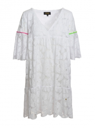 Young British Designers: Butterfly Lace Dress in White - Last one by Ziiga