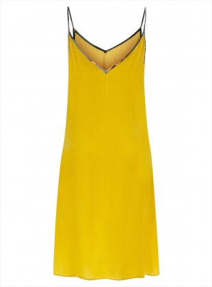 Young British Designers: Lilly Camisol Dress in Ochre Silk Velvet - sold out by Klements