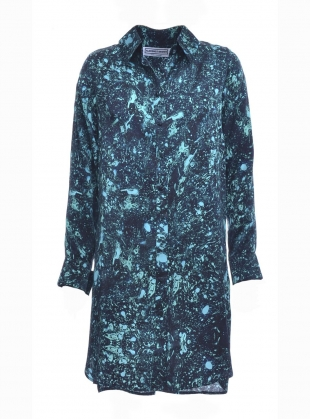 Isobel Silk Shirt Dress in Acid Jade - Last one by Florence Bridge