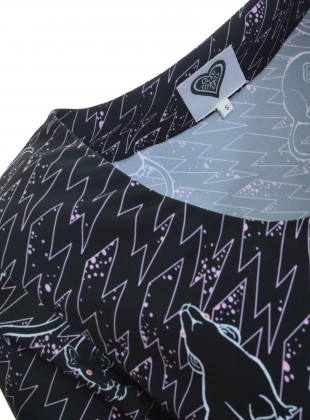 Young British Designers: Verona Love Rat Print Dress - LAST ONE by Clio Peppiatt