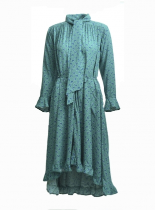 ELENI SCARF DRESS in Aqua - last one by Belize