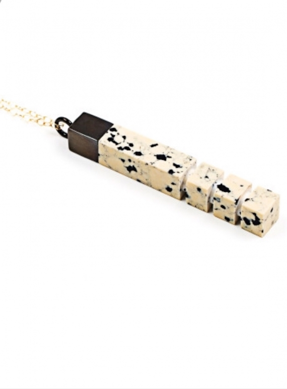 Young British Designers: Dalmation Rhodium Column - last one by Lily Kamper