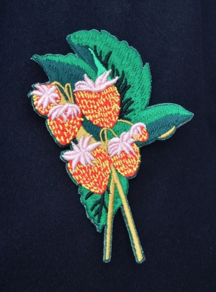 COTTON PIN Strawberry Badge by Bruta