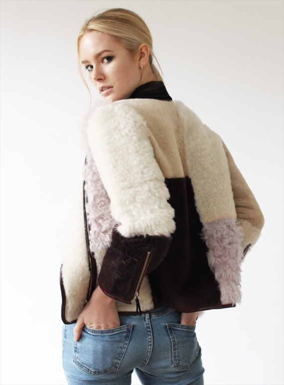Young British Designers: Antonia Shearling Biker Jacket by Florence Bridge