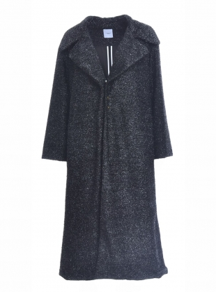 Young British Designers: The Black Glitter Great Coat by Longshaw Ward
