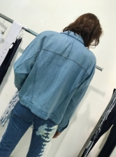 Hand Woven Oversized Denim Jacket - last one