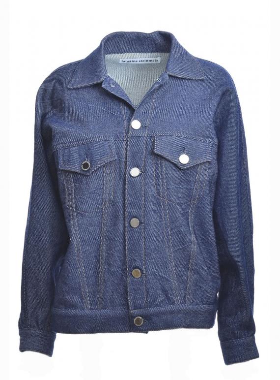 Young British Designers: Hand Woven Oversized Denim Jacket - last one (S) by Faustine Steinmetz