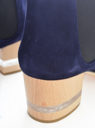 Young British Designers: FLOAT ANKLE BOOT, SAPPHIRE by Dear Frances