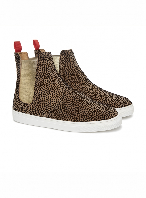 Young British Designers: SUEDE & VELVET DOT INISH BOOT - Last pair (36) by Rose Rankin