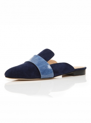 Young British Designers: LOUNGE LOAFER in Navy Denim - last pair (41) by Dear Frances