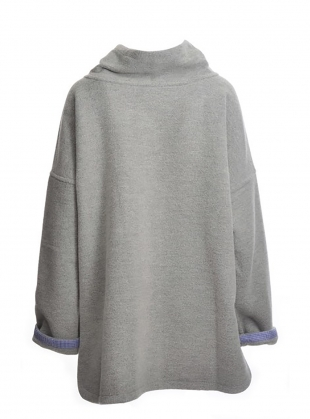 Young British Designers: Virgin Wool Pearl Grey Oversized Knit - last one by Teija Eilola