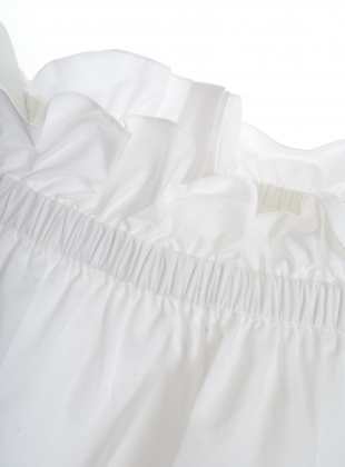 Young British Designers: White Cotton Off-The-Shoulder Shirt - last one by Teija Eilola