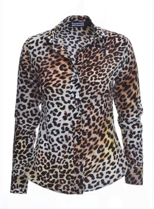 CLASSIC SHIRT in Natural Leopard- last one  by Rockins