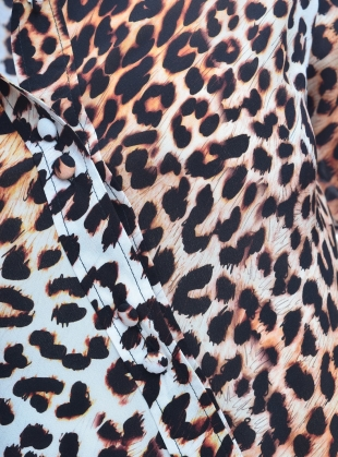 Young British Designers: CLASSIC SHIRT in Natural Leopard- last one  by Rockins