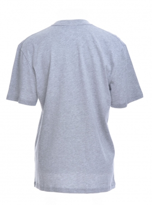 Young British Designers: Embellished T-Shirt in Grey Marl by Longshaw Ward