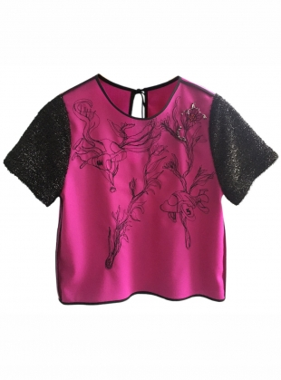 Luxe Embellished Spaceship Top by Longshaw Ward