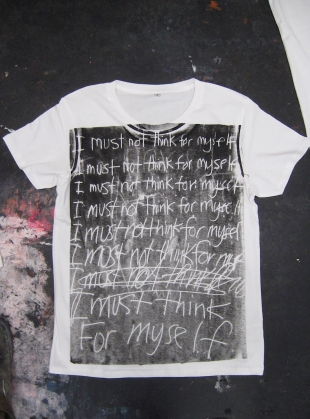 Young British Designers: I Must Think For Myself Tee by Simeon Farrar