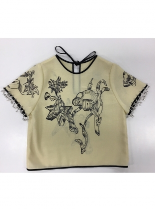 Young British Designers: Luxe Embellished Spaceship Top by Longshaw Ward