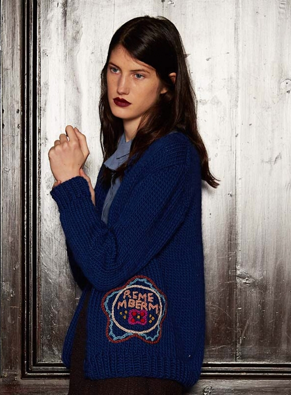 Young British Designers: Hand-Knit ROMY Cardigan by Paola Rodriguez