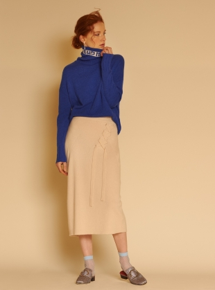 Young British Designers: Le Week-end' Cashmere Roll-Neck Jumper  by J.Won