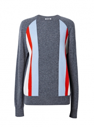 Stripe Cashmere Raglan Jumper by J.Won