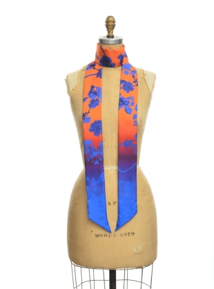 GRACE SKINNY SCARF in GOTHIC FLORAL TOMATO - Last one by Klements