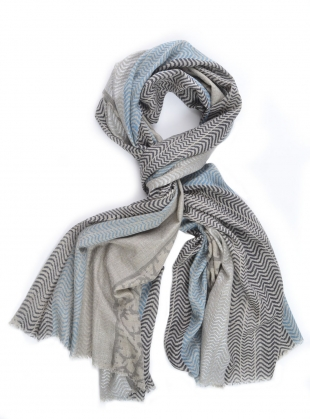Maasi Handwoven Blues Scarf by Beshlie McKelvie
