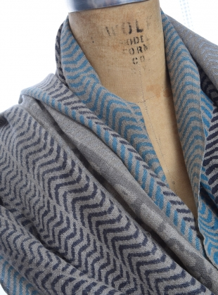 Young British Designers: Maasi Handwoven Blues Scarf by Beshlie McKelvie