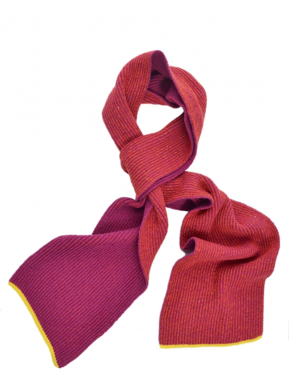 Young British Designers: Skellig Scarf in Fuschia by McConnell