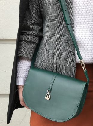 THE BUDDHA Saddle Bag in Green by Paradise Row