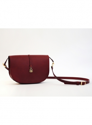 THE BOXER Saddle Bag in Burgundy by Paradise Row