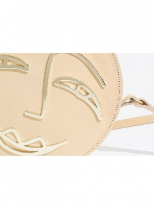 Young British Designers: JOY Circle Bag in Nude Leather  by Paradise Row