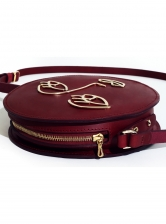LOVE Circle Bag in Burgundy Leather - Sold out