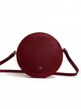LOVE Circle Bag in Burgundy Leather - BACK IN STOCK