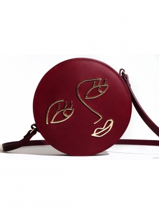 LOVE Circle Bag in Burgundy Leather by Paradise Row