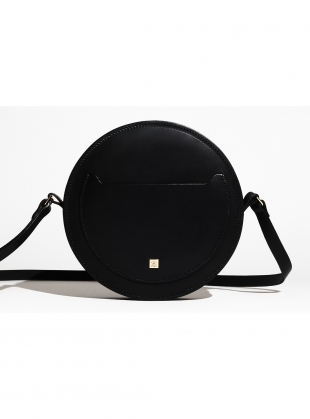 Young British Designers: HOPE Circle Bag in Black Leather by Paradise Row - Sold out by Paradise Row