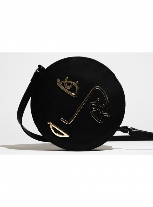 Young British Designers: HOPE Circle Bag in Black Leather by Paradise Row by Paradise Row