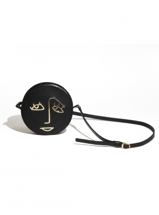 HOPE Circle Bag in Black Leather by Paradise Row - BACK IN STOCK by Paradise Row
