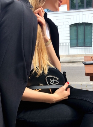 Young British Designers: HOPE Circle Bag in Black Leather by Paradise Row - BACK IN STOCK by Paradise Row