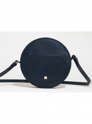 Young British Designers: SORROW Circle Bag in Petroleum Blue Leather  by Paradise Row
