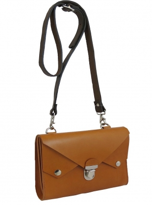Young British Designers: MINI TUCKTITE BAG in Tobacco by Kate Sheridan