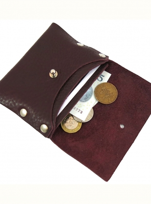 Young British Designers: NEW LOUX WALLET in Tumbled Pruna by Kate Sheridan