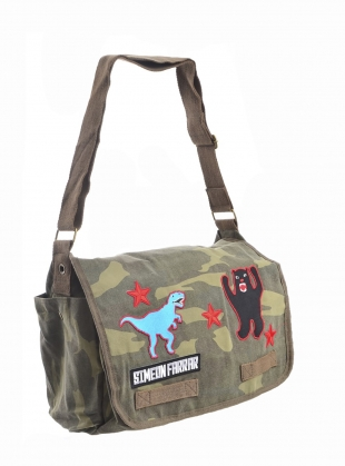 CAMO MESSENGER BAG. Patches. by Simeon Farrar