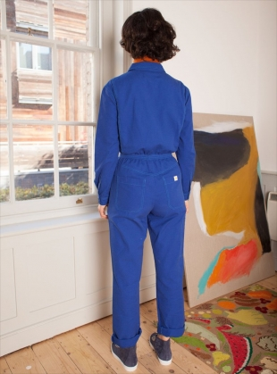 Young British Designers: DANNY Boilersuit in Cobalt Blue by LF Markey